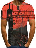 Χαμηλού Κόστους Ανδρικά μπλουζάκια και φανελάκια-Ανδρικά T-shirt 3D / Ζώο Ρουμπίνι