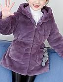 olcso Lány ruhák-Gyerekek Lány Alap Egyszínű Toll és pamuttal bélelt Bíbor