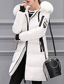 olcso Női hosszú kabátok és parkák-Női Egyszínű Hosszú Kosaras, Akril / Poliészter Fekete / Fehér / Arcpír rózsaszín M / L / XL
