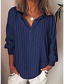 billige Skjorter til damer-Skjorte Dame - Stripet Gul