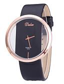 ราคาถูก นาฬิกาควอตซ์-สำหรับผู้หญิง นาฬิกาควอตส์ นาฬิกาอิเล็กทรอนิกส์ (Quartz) PU Leather ดำ / สีขาว / แดง แกะสลักกลวง น่ารัก ดีไซน์มาใหม่ ระบบอนาล็อก มาใหม่ แฟชั่น - สีดำ ขาว ทับทิม หนึ่งปี อายุการใช้งานแบตเตอรี่