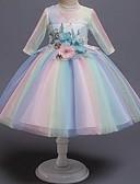 Χαμηλού Κόστους Φορέματα για κορίτσια-Παιδιά Κοριτσίστικα Συνδυασμός Χρωμάτων Φόρεμα Ουράνιο Τόξο