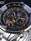 Χαμηλού Κόστους Μηχανικά Ρολόγια-Jaragar Ανδρικά Μοδάτο Ρολόι Διάφανο Ρολόι Ρολόι Καρπού Αυτόματο κούρδισμα Υπερμεγέθη Ανοξείδωτο Ατσάλι 30 m Ημερολόγιο Απίθανο Αναλογικό Πολυτέλεια Κλασσικό Καθημερινό -