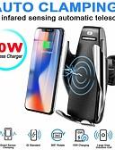 Χαμηλού Κόστους Ασύρματοι φορτιστές-s5 ασύρματο φορτιστή αυτόματη αισθητήρα αυτοκινήτου ασύρματο φορτιστή για iphone 11 pro max xs max xr x samsung s10 s9 έξυπνη υπέρυθρη υπέρυθρη wirless θήκη τηλεφώνου