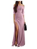 olcso Női ruhák-Női 1920s Elegáns Flapper Ruha Egyszínű Aszimmetrikus V-alakú Gatsby