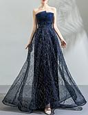 Χαμηλού Κόστους Βραδινά Φορέματα-Γραμμή Α Στράπλες Ουρά Τούλι Ανοικτή Πλάτη Χοροεσπερίδα / Επίσημο Βραδινό Φόρεμα 2020 με Διακοσμητικά Επιράμματα / Κρυστάλλινη λεπτομέρεια