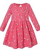 Χαμηλού Κόστους Φορέματα για κορίτσια-Παιδιά Κοριτσίστικα Φλοράλ Φόρεμα Μπλε Απαλό