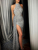 baratos Vestidos de Festa-Mulheres Básico balanço Vestido Sólido Longo