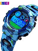 baratos Relógios Digitais-SKMEI Para Meninos Relogio digital Digital Silicone Azul / Verde / Azul Marinho 50 m Impermeável Relogio Despertador Cronômetro Digital Nova chegada Fashion - Verde Azul Azul Escuro