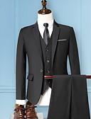 Χαμηλού Κόστους Κοστούμια-Μαύρο / Μπορντώ / Βαθυγάλαζο Μονόχρωμο Κατά παραγγελία εφαρμογή Πολυεστέρας Κοστούμι - Μύτη Μονόπετο Ενός Κουμπιού / Στολές