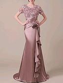 Χαμηλού Κόστους Βραδινά Φορέματα-Τρομπέτα / Γοργόνα Με Κόσμημα Ουρά Δαντέλα / Σατέν Κομψό Επίσημο Βραδινό Φόρεμα 2020 με Διακοσμητικά Επιράμματα / Βολάν / Πιασίματα με Lightinthebox
