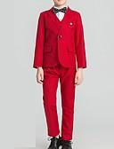 Χαμηλού Κόστους Κοστούμια για Παιδιά που Κουβαλάνε τις Βέρες-Μπορντώ / Γκρίζο Πολυεστέρας Κοστούμι για Αγοράκι με Βέρες - 1 Τεμάχιο Περιλαμβάνει Επίστρωση / Γιλέκο / Παντελόνια