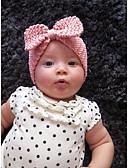 ราคาถูก หมวกเด็ก-Toddler / Infant เด็กผู้ชาย / เด็กผู้หญิง วินเทจ / ซึ่งทำงานอยู่ / หวาน สีพื้น การถักนิตติ้ง สังเคราะห์ / ชุดถักด้วยไหมพรม หมวก สีดำ / ขาว / สีแดงชมพู ขนาดเดียว