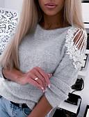 baratos Camisas Femininas-Mulheres Camisa Social Estampa Colorida Preto