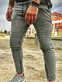baratos Calças e Shorts Masculinos-Homens Esportivo Calças Esportivas Calças - Sólido Preto Verde Tropa Cinzento Escuro US36 / UK36 / EU44 US38 / UK38 / EU46 US40 / UK40 / EU48