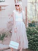 Χαμηλού Κόστους Γυναικείες Φούστες-Γυναικεία Κούνια Τούτους Μακρύ Φούστες - Μονόχρωμο Μαύρο Μπλε Απαλό Ανθισμένο Ροζ Ένα Μέγεθος / Πολυεπίπεδο