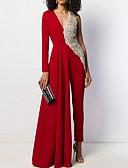 baratos Vestidos de Mulher-Mulheres Preto Branco Vermelho Macacão Pijama Macacão, Sólido S M L