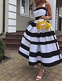 Χαμηλού Κόστους Print Dresses-Γυναικεία Κομψό Γραμμή Α Φόρεμα - Ριγέ Μακρύ Τιράντες