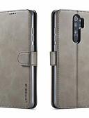 baratos Capinhas para Xiaomi-Capinha Para Xiaomi Xiaomi Redmi Note 7 / Nota do Redmi 7 / Redmi Note 8 Porta-Cartão / Flip Capa Proteção Completa Sólido PU Leather / TPU