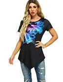 billige T-skjorter til damer-T-skjorte Dame - Blomstret Vin