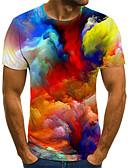 olcso Férfi pólók és atléták-Férfi Póló - 3D, Nyomtatott Szivárvány