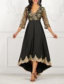 Χαμηλού Κόστους Γυναικεία Φορέματα-Γυναικεία Γραμμή Α Φόρεμα - Φλοράλ Ασύμμετρο