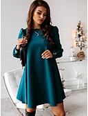 baratos Vestidos de Mulher-Mulheres Elegante Reto Vestido Sólido Acima do Joelho