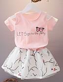 povoljno Kompletići za djevojčice-Djeca Djevojčice Osnovni Print Kratkih rukava Komplet odjeće Obala