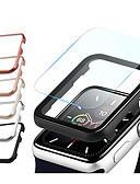billiga Smartwatch-fodral-för äppleklockmetallfodral med skärmskydd härdat glasmembran