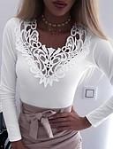 Χαμηλού Κόστους Print Dresses-Γυναικεία T-shirt Μονόχρωμο Μαύρο