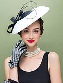 ราคาถูก หมวกสตรี-ขนนก / เส้นใยสังเคราะห์ Kentucky Derby Hat / fascinators / ฮารด์แวร์ กับ ดอกไม้ 1pc งานแต่งงาน / โอกาสพิเศษ / ที่มา หูฟัง