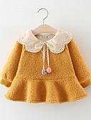 povoljno Haljinice za bebe-Dijete Djevojčice Osnovni Jednobojni Dugih rukava Pamuk Haljina Blushing Pink