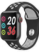 baratos Smart watch-Relógio inteligente Digital Estilo Moderno Esportivo Silicone 30 m Impermeável Monitor de Batimento Cardíaco Bluetooth Digital Casual Ao ar Livre - Prata + Gray Dourado / Rosa Preto / Azul
