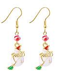povoljno Trendy Jewelry-lijepa božićna tema božićni snjegović uzorak omiljene naušnice 1 set