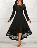 Χαμηλού Κόστους Γυναικεία Φορέματα-Γυναικεία Γραμμή Α Φόρεμα - Μονόχρωμο Ασύμμετρο