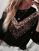 billige Blazere til damer-Dame Fritid Genser Leopard