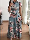 Χαμηλού Κόστους Φορέματα-Γυναικεία Κομψό Γραμμή Α Φόρεμα - Φλοράλ Μακρύ