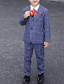 Χαμηλού Κόστους Κοστούμια για Παιδιά που Κουβαλάνε τις Βέρες-Σταφύλι / Μπλε Ρουά / Γκρίζο Πολυεστέρας Κοστούμι για Αγοράκι με Βέρες - 1 Τεμάχιο Περιλαμβάνει Επίστρωση / Γιλέκο / Παντελόνια