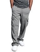povoljno Muške duge i kratke hlače-Muškarci Sportski Sportske hlače Hlače - Jednobojni Crn Svijetlosiva Obala US34 / UK34 / EU42 US36 / UK36 / EU44 US38 / UK38 / EU46