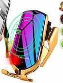 billige Trådløse ladere-r1 10w qi air vent trådløs bilmontering hurtiglader automatisk klemme trådløs lader, rask telefonlader for bil for iphone xs maks xr x 8 pluss galaxy s10 s10 + s9