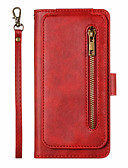 baratos Capinhas para Xiaomi-Capinha Para Xiaomi Xiaomi Mi 9T / Xiaomi Mi 9T Pro / Nota do Redmi 7 Porta-Cartão / Flip Capa Proteção Completa Sólido PU Leather