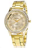 baratos Relógios de Casal-Casal Relógios de aço Quartzo Estilo Moderno Fashion Dourada Não Relógio Casual Legal Mostrador Grande Analógico Clássico Casual - Dourado Um ano Ciclo de Vida da Bateria