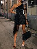 baratos Mini Vestidos-Mulheres Elegante Bainha Vestido Sólido Mini