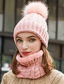 Χαμηλού Κόστους Women's Hats-Γυναικεία Μονόχρωμο Βασικό Πολυεστέρας Καπέλο σκι Μαύρο Κρασί Ανθισμένο Ροζ