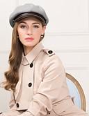 billige Accessories-Annet lær / Polyester / Polyamid Hatter med Kombinasjon 1pc Avslappet / Dagligdagstøy Hodeplagg