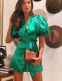 olcso Romantikus csipke-Női Hüvely Ruha Egyszínű Mini