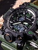 ราคาถูก นาฬิกาดิจิทัล-SANDA สำหรับผู้ชาย นาฬิกาแนวสปอร์ต ดูสมาร์ท นาฬิกาข้อมือ ญี่ปุ่น ดิจิตอล ยางทำจากซิลิคอน ดำ / สีขาว / น้ำตาล 30 m กันน้ำ LED แสดงสองเวลา อะนาล็อก-ดิจิตอล แฟชั่น - แดง สีเขียว สีกากี / สแตนเลส / สองปี