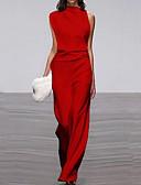 Χαμηλού Κόστους Γυναικείες μακριές και μίνι ολόσωμες φόρμες-Γυναικεία Μαύρο Κρασί Λευκό Φόρμες, Μονόχρωμο Τ M L