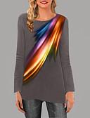 baratos Vestidos de Festa-Mulheres Camiseta Floral Preto