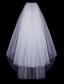 Χαμηλού Κόστους Πέπλα Γάμου-Δύο-βαθμίδων Κλασσικό & Διαχρονικό Πέπλα Γάμου Πέπλα ως τον αγκώνα με Μονόχρωμο Τούλι